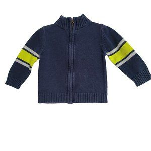 🍒3/$20🍒 OSHKOSH Navy Full Zip Cotton Sweater 18m